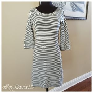Banana Republic Women's Dress, Green/Cream Stripe